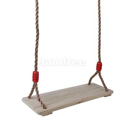 Wooden Indoor Outdoor Swing Seat with Rope Set Garden Playground Accessories