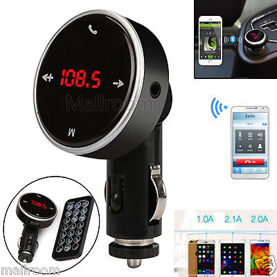 Bluetooth LCD Auto FM Transmitter Freisprechanlage Car MP3 Player USB SD MMC KFZ