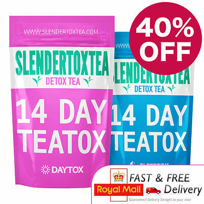 Slendertoxtea - 14 Day Teatox Set (Detox Tea, Diet Tea, Skinny Tea) 40% OFF