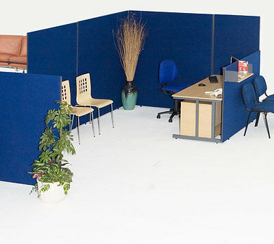 Office divider screen linking partition GLK120100 Free Delivery 3 Year Guarantee