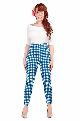 Collectif Vintage Bonnie Painted Gingham Trousers