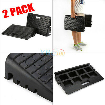2 X Rubber Kerb Ramps Heavy Duty For Car Caravans Wheelchair Disabled Access UK