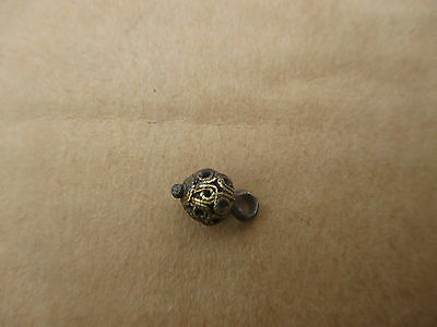 Ancient Silver gilt Bead   Woman ornament   Kievan Rus 10-12 AD.
