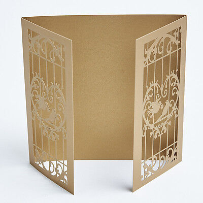 Laser cut wedding invitations. Love Birds invites. Many colours. Card making.