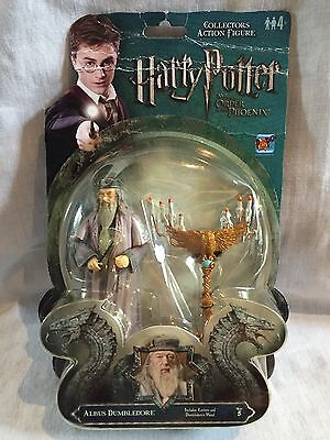 FREE POST rare CARDED Harry Potter ALBUS DUMBLEDORE ACTION FIGURE ootp