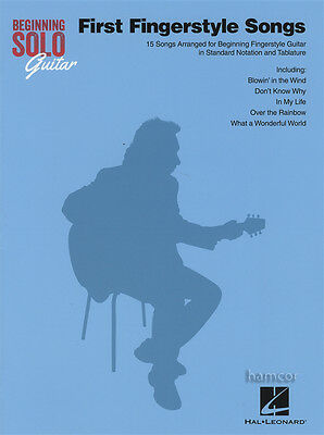 First Fingerstyle Songs Beginning Solo Guitar TAB Music Book