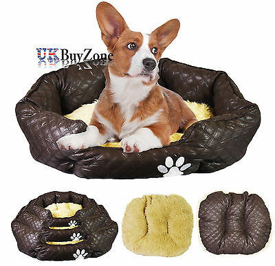 Luxury Soft Snuggle Pet Bed Dog Cat Puppy Cosy Mattress Reversible Cushion Mat
