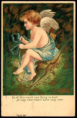Tuck PPC 1905 Valentine PPC - A Cosy Nest Where Love May Rest - Cupid - UB