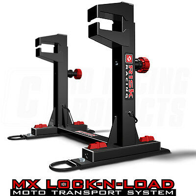 Risk Racing Lock N Load Strapless System Motocross Enduro Van Bike Stand