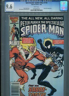 Spectacular Spiderman #116 Nm 9.6 Cgc Buckler Art Sabretooth App.