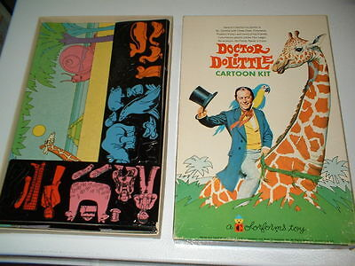 Ex Cond 1967 Doctor Dolittle Colorforms Play Set