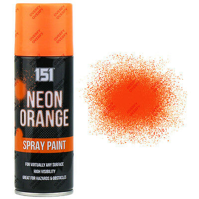 1 x Fluorescent Neon Orange Aerosol Spray Paint DIY 200ml Auto Car 151 Quality