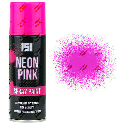 1 x Fluorescent Neon Pink Aerosol Spray Paint DIY 200ml Auto Car 151 Quality
