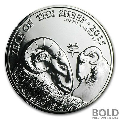 2015 Silver Great Britain Lunar Year of the Sheep .999 BU - 1 oz Coin