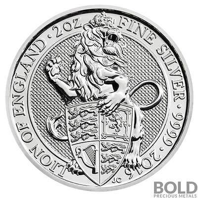 2016 Silver Great Britain Queen's Beasts (The Lion) .9999 - 2 oz