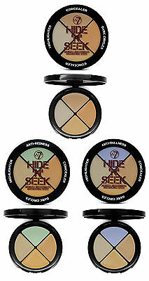 W7 Hide 'N' Seek Colour Cream Corrector Compact Concealer - 3 Colours