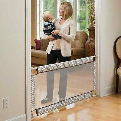 Baby Safety Gate Wide and Soft 38 to 60 Inch Pressure Mounted Toddler Child Mesh