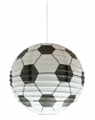 Boys Black and White Football Paper Lantern