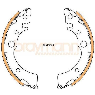 Brake Shoes fits HONDA BBS0234 Set Braymann Genuine Quality Replacement New