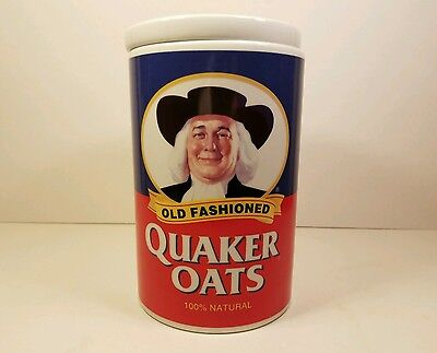 New 97 Quaker Oats 120th Anniversary Ceramic Cookie Jar Canister Box - Fast Ship