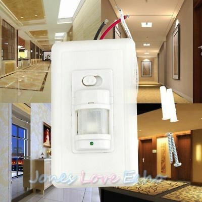 Infrared Motion Sensor Wall PIR Manual On/Off Automatic Switch White