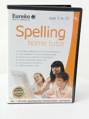 Eureka Spelling Home Tutor CD ROM NEW  Educational Software  5 to 12 FREE POST