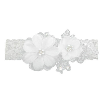 White Lace Wedding Leg Garter Bridal Prom Garter Belt With Crystal Pearls
