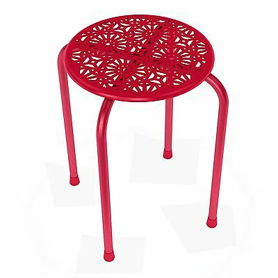 Dar Daisy Side Table/Stool in Red-2 Pack