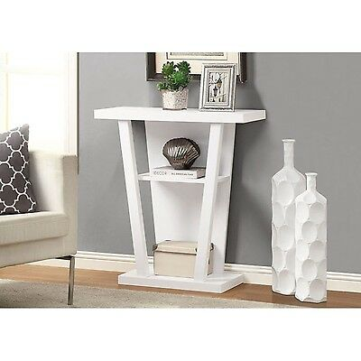 Monarch Specialties Hall Console Accent Table 32-Inch White