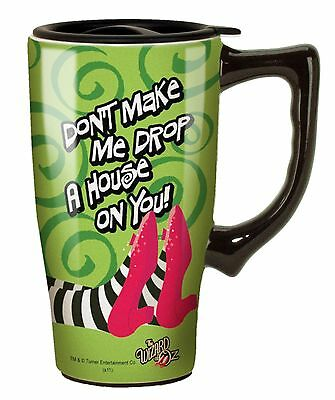 Wizard Of Oz Drop a House on You Travel Mug Green