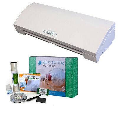 Silhouette Cameo 3 Bluetooth with Glass Etching Starter Kit