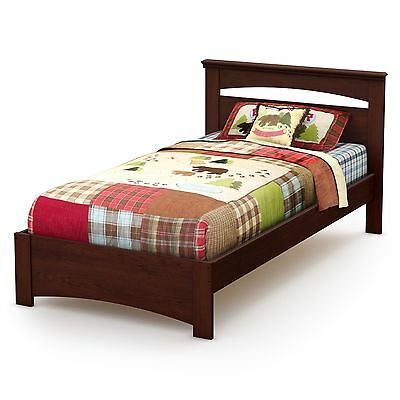 South Shore Furniture Sweet Morning Twin Bed Royal Cherry