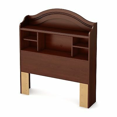 South Shore Summer Breeze Twin Bookcase Headboard 39-Inch Royal Cherry