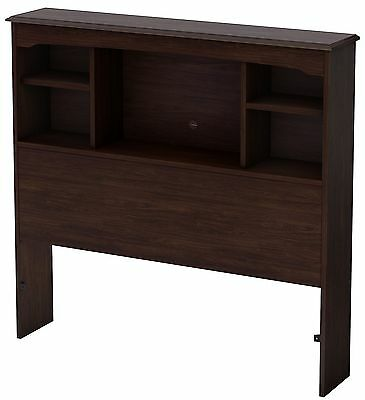 South Shore Furniture Willow Collection 39-Inch Twin Bookcase Headboard Havana