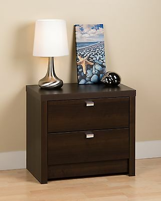 Prepac Series 9 Designer 2-Drawer Night Stand Espresso