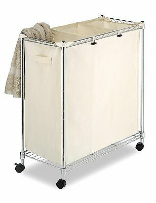 Whitmor 6056-545-HD Supreme Laundry Sorter Chrome and Canvas
