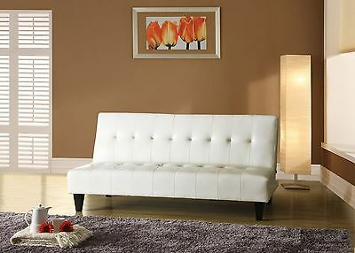 Acme 05858C Conrad Adjustable Sofa White Polyurethane Finish
