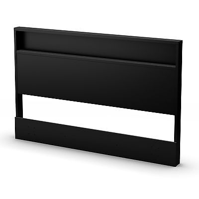 South Shore Furniture Trinity Collection Headboard Full/Queen Pure Black