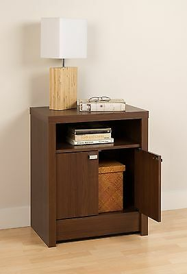 Prepac Series 9 Designer 2-Door Night Stand Warm Cherry