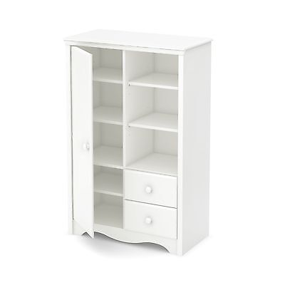South Shore Furniture Heavenly Armoire with Drawers Pure White
