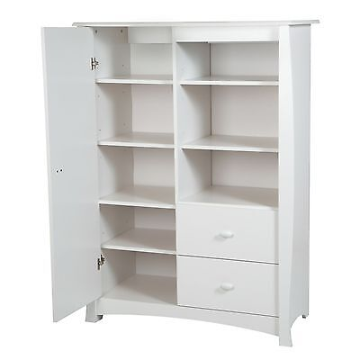 South Shore Furniture Beehive Armoire with Drawers Pure White