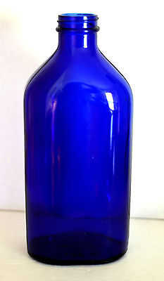 "Vintage Hazel-Atlas Phillips Milk of Magnesia Cobalt Blue Bottle 9"" 26 oz."