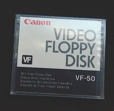 Lot of 2 New and Sealed Canon Video Floppy Disks VF-50 for Canon Xapshot Camera