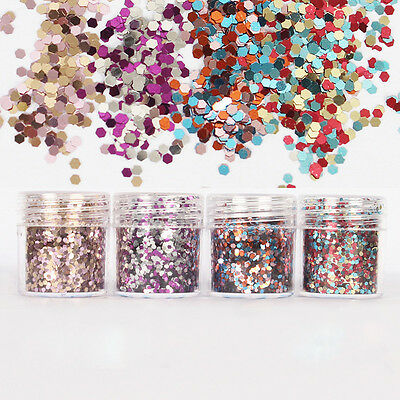10ml Glitter Powder Poudre Sequins Brillant Décoration Ongles Nail Art Paillette