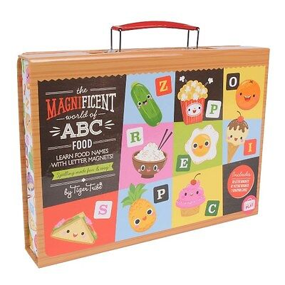 NEW Tiger Tribe Magnificent World of ABC Food - Magnet Educational Magnetic Set