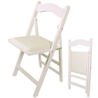 SoBuy® Folding Wooden Chair,Home Office Folding Chair Seating, FST06-W, White,UK