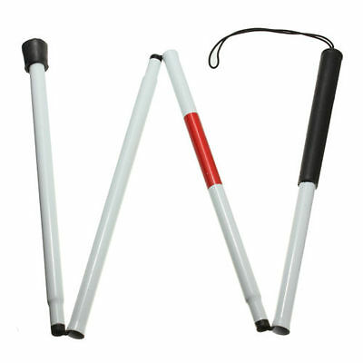 CF Visually Impaired Crutch Cane Blind Walking Stick Walker Aluminium Easy Fold