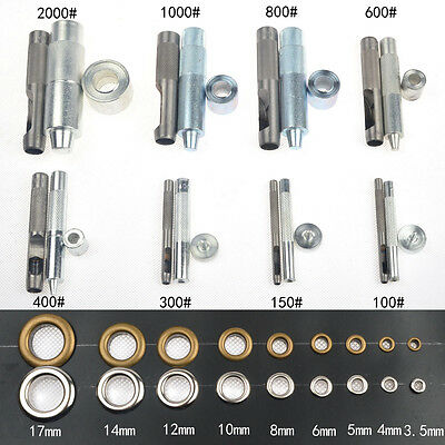 20 Eyelets Grommet w/Washer Hole Punch Tool Leather Craft Banner Scrapbooking