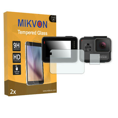 2x Mikvon Tempered Glass 9H for GoPro Hero 5 Screen Protector Retail Package