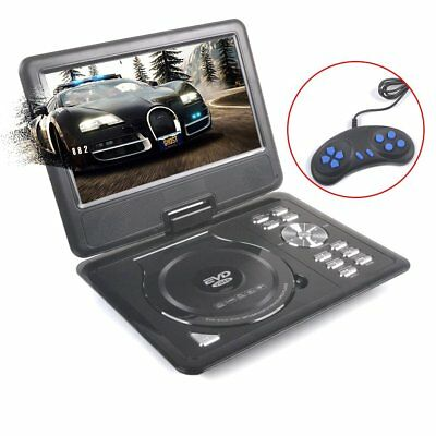 New Arrival 9 Inch Portable DVD VCD Player Swivel Screen In-car Divx USB SD Game